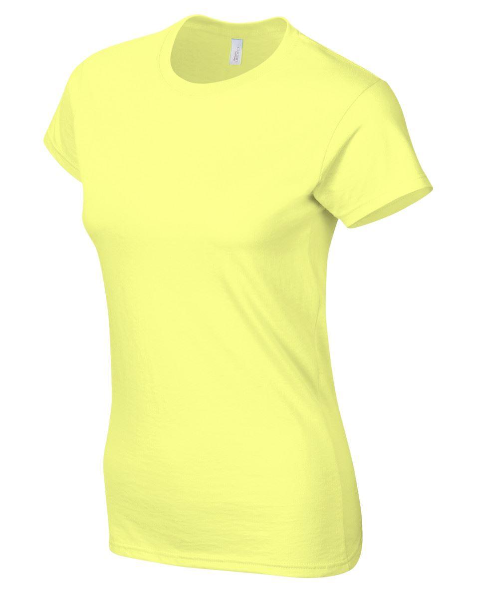 Gildan-Womens-Ladies-Soft-Style-Plain-V-Neck-T-Shirt-Cotton-Tee-Tshirt thumbnail 56