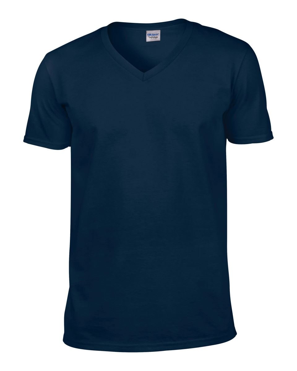 Gildan-Mens-Men-039-s-Soft-Style-Plain-V-Neck-T-Shirt-Cotton-Tee-Tshirt thumbnail 40