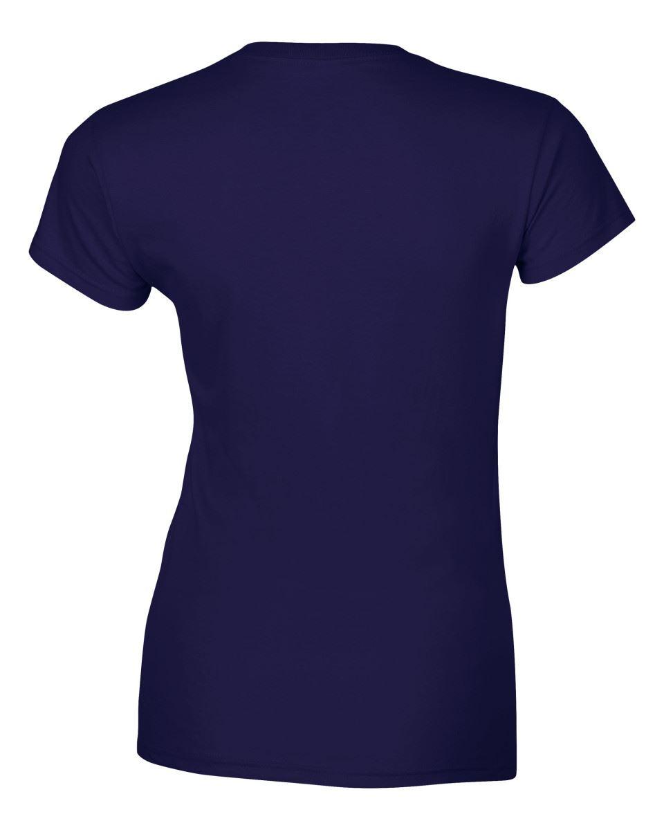 Gildan-Womens-Ladies-Soft-Style-Plain-V-Neck-T-Shirt-Cotton-Tee-Tshirt thumbnail 50