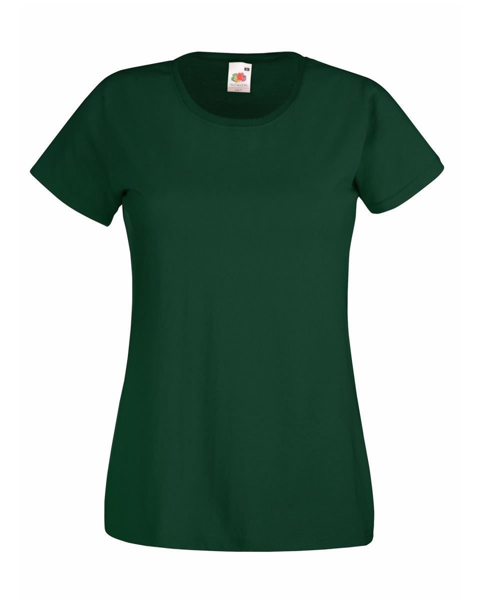 Fruit-of-the-Loom-Womens-Lady-Fit-T-Shirt-Valueweight-Plain-Blank-T-Shirt-Top thumbnail 6