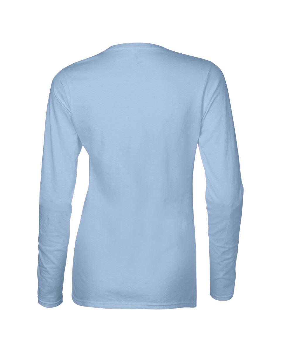GILDAN-softsyle-Femmes-T-shirt-homme-a-manches-longues-100-Coton-Doux-Decontracte-Femme miniature 26