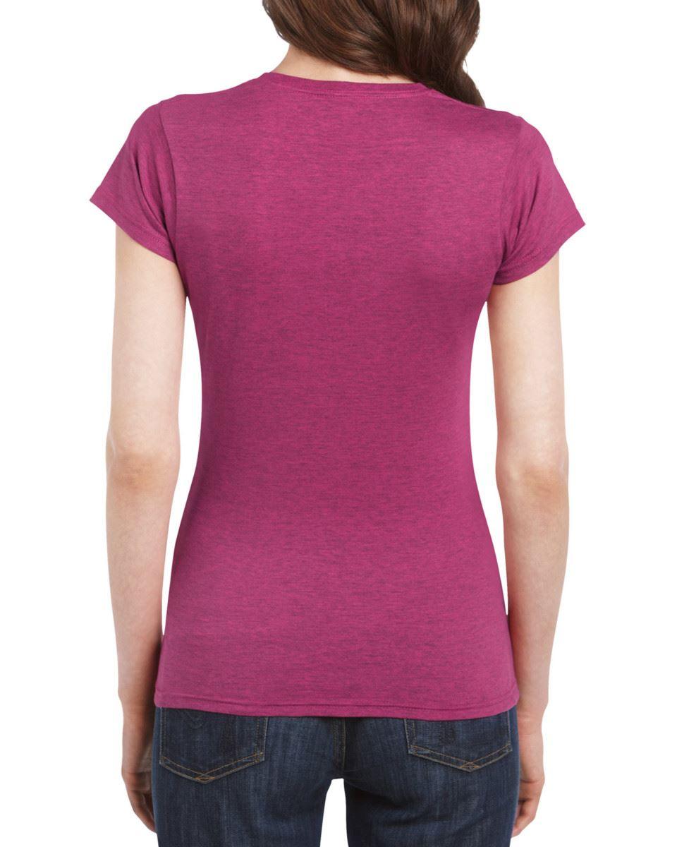Gildan-Womens-Ladies-Soft-Style-Plain-V-Neck-T-Shirt-Cotton-Tee-Tshirt thumbnail 18