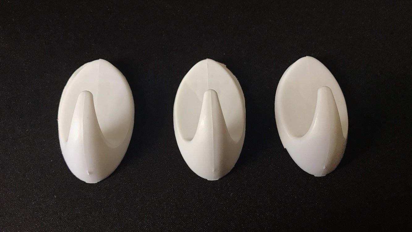 Autoadesivo-bastone-su-Ganci-Marrone-Bianco-Ovale-Cappello-Cappotto-Porta-Muro-appiccicoso-Staffa miniatura 52