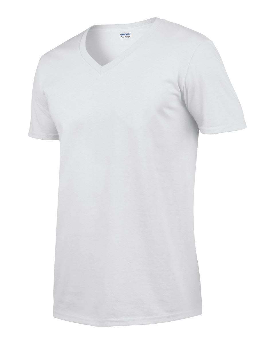 Gildan-Mens-Men-039-s-Soft-Style-Plain-V-Neck-T-Shirt-Cotton-Tee-Tshirt thumbnail 7