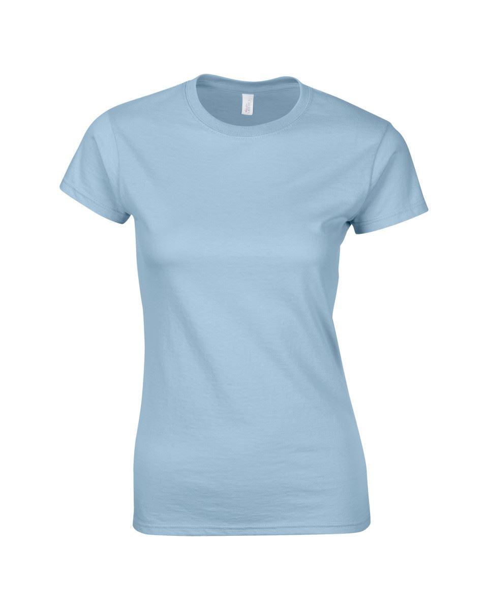 Gildan-Womens-Ladies-Soft-Style-Plain-V-Neck-T-Shirt-Cotton-Tee-Tshirt thumbnail 101