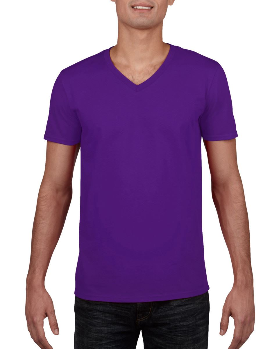 Gildan-Mens-Men-039-s-Soft-Style-Plain-V-Neck-T-Shirt-Cotton-Tee-Tshirt thumbnail 43