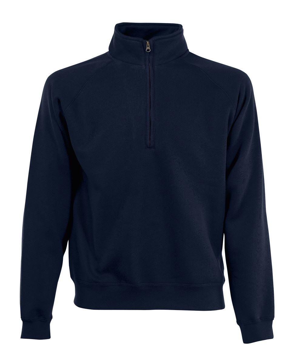 Fruit-Of-The-Loom-Mens-Classic-Zip-Neck-Sweat-Cadet-collar-Sweatshirts miniatura 6