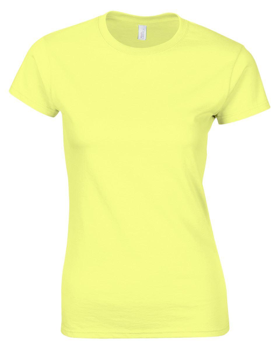 Gildan-Womens-Ladies-Soft-Style-Plain-V-Neck-T-Shirt-Cotton-Tee-Tshirt thumbnail 54
