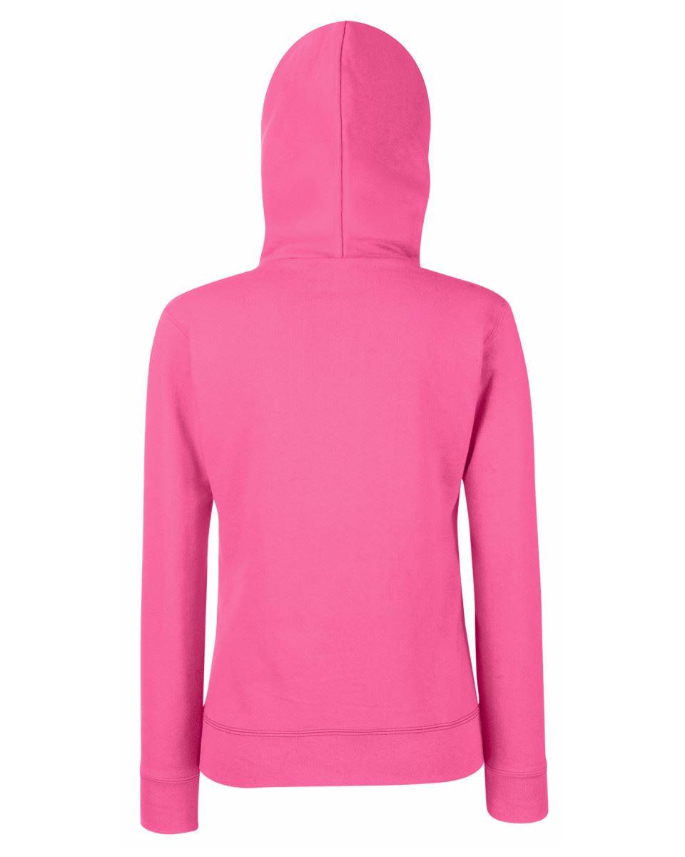 Fruit Of The Loom Ladies Lady-Fit Hooded Sweat Jacket Zipped Hooded Sweatshirts