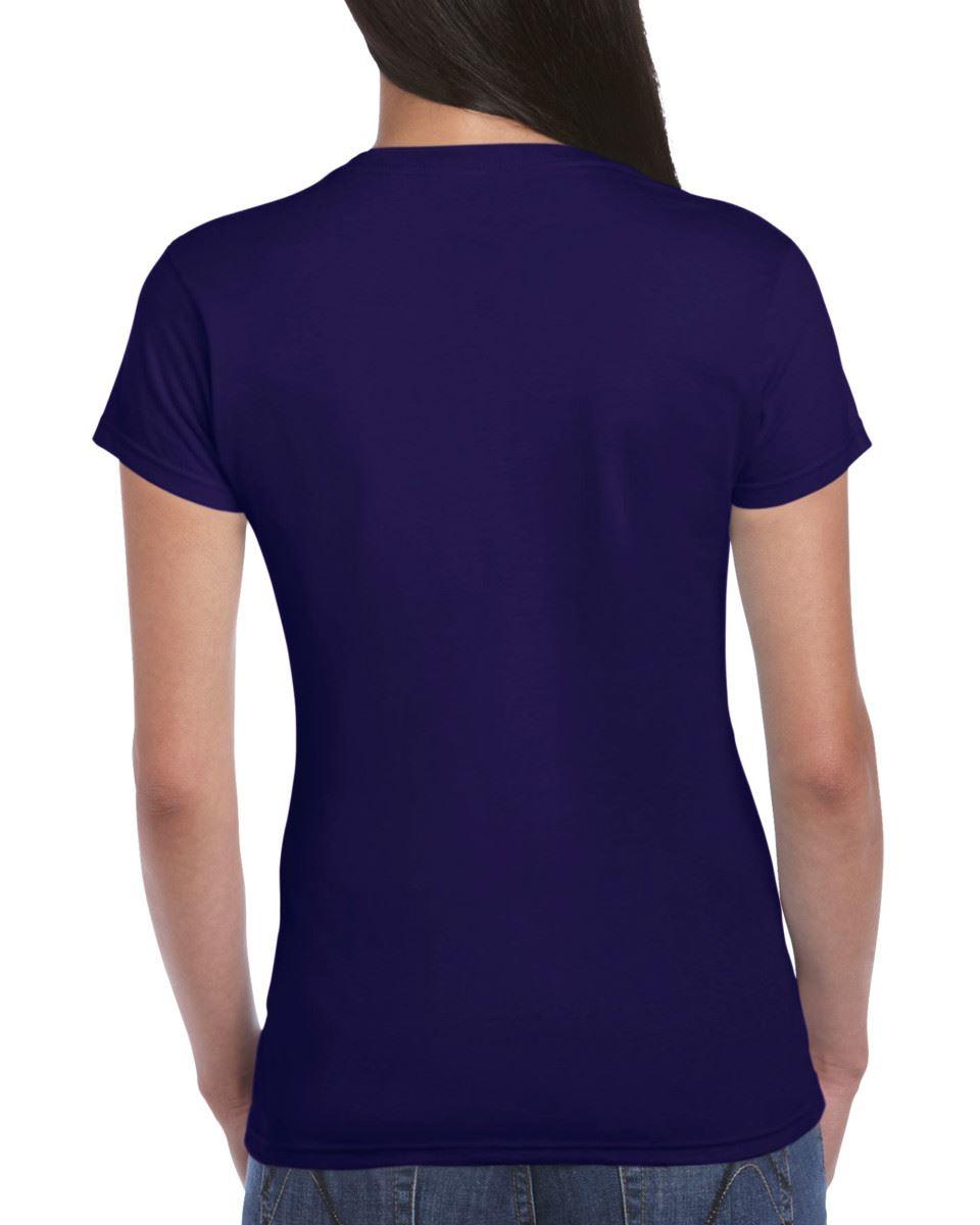 Gildan-Womens-Ladies-Soft-Style-Plain-V-Neck-T-Shirt-Cotton-Tee-Tshirt thumbnail 48