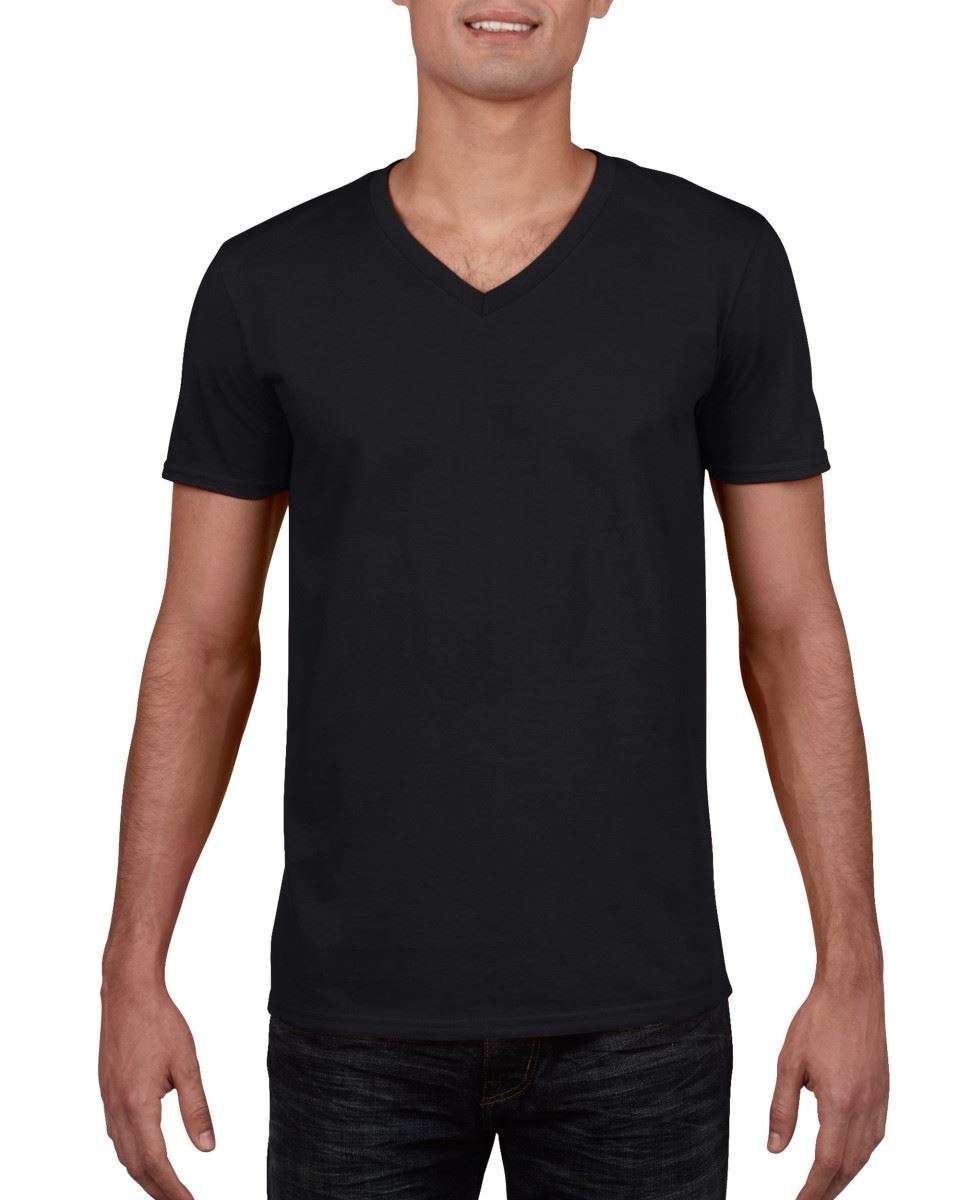 Gildan-Mens-Men-039-s-Soft-Style-Plain-V-Neck-T-Shirt-Cotton-Tee-Tshirt thumbnail 8