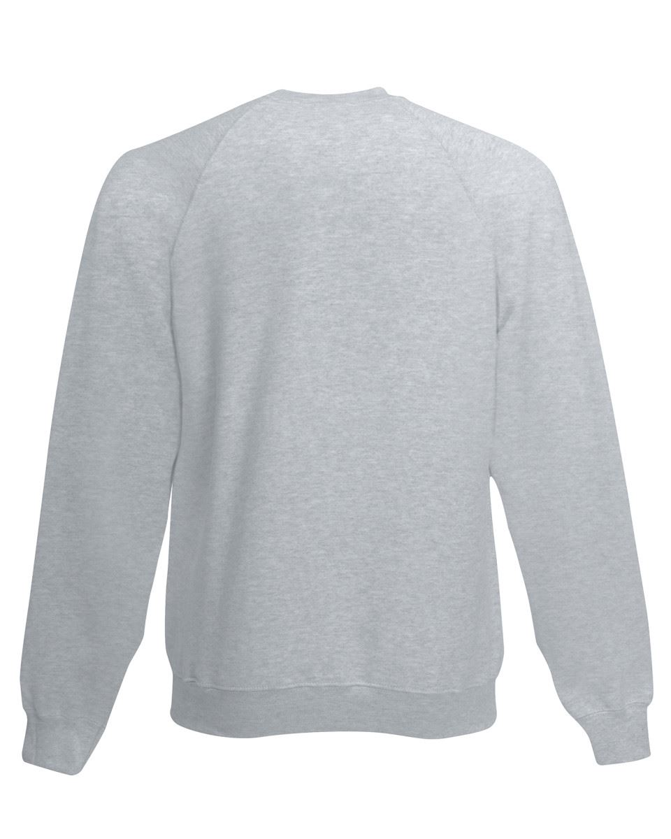Mens-Sweatshirt-Fruit-Of-The-Loom-Raglan-Sweat-Pullover-Plain-Top-Jumper-Sweater thumbnail 7