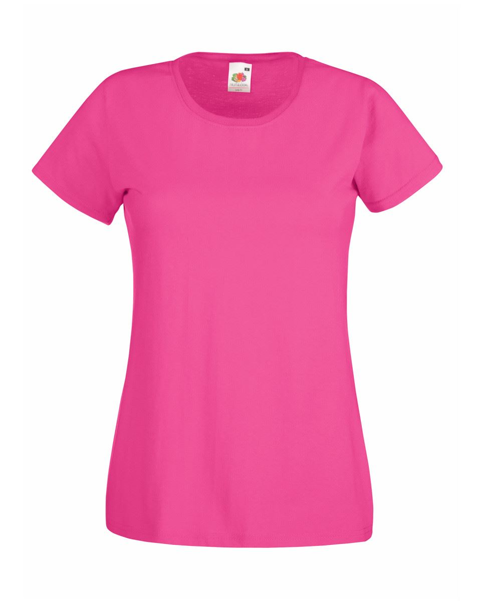 Fruit-of-the-Loom-Womens-Lady-Fit-T-Shirt-Valueweight-Plain-Blank-T-Shirt-Top thumbnail 14