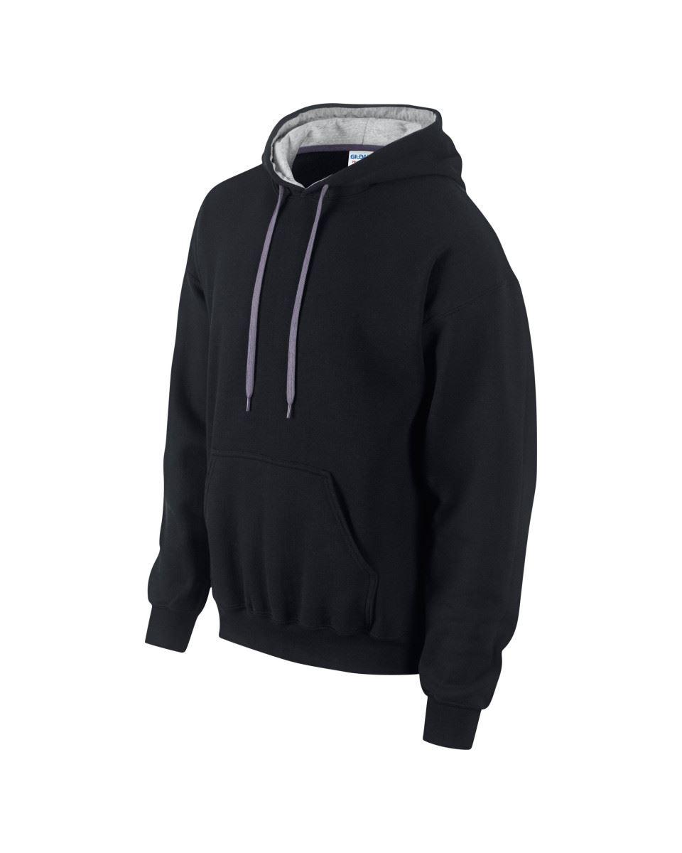 Gildan-Heavy-Blend-Plain-Contrast-Hooded-Sweatshirt-Hoodie-Sweat-Hoody-Jumper thumbnail 10