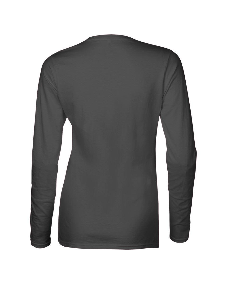 GILDAN-softsyle-Femmes-T-shirt-homme-a-manches-longues-100-Coton-Doux-Decontracte-Femme miniature 21