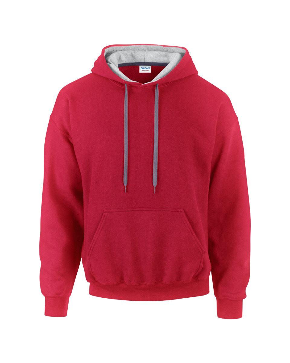 Gildan-Heavy-Blend-Plain-Contrast-Hooded-Sweatshirt-Hoodie-Sweat-Hoody-Jumper thumbnail 23