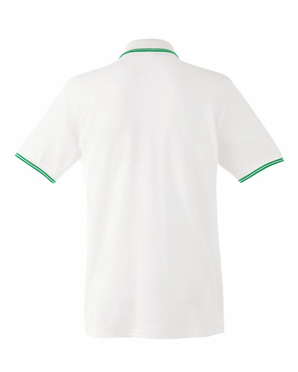 FRUIT-OF-THE-LOOM-Men-039-s-Tipped-Polo-Contrast-Neck-Tape-Cuff-Pure-Cotton-Polo-Top thumbnail 15