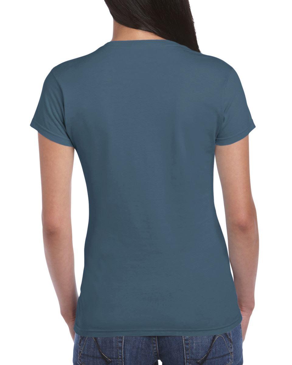 Gildan-Womens-Ladies-Soft-Style-Plain-V-Neck-T-Shirt-Cotton-Tee-Tshirt thumbnail 85