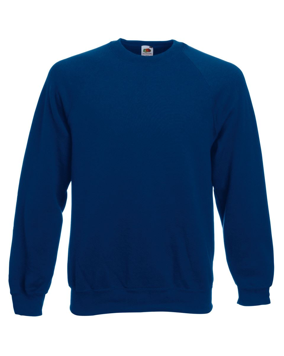 Mens-Sweatshirt-Fruit-Of-The-Loom-Raglan-Sweat-Pullover-Plain-Top-Jumper-Sweater thumbnail 8