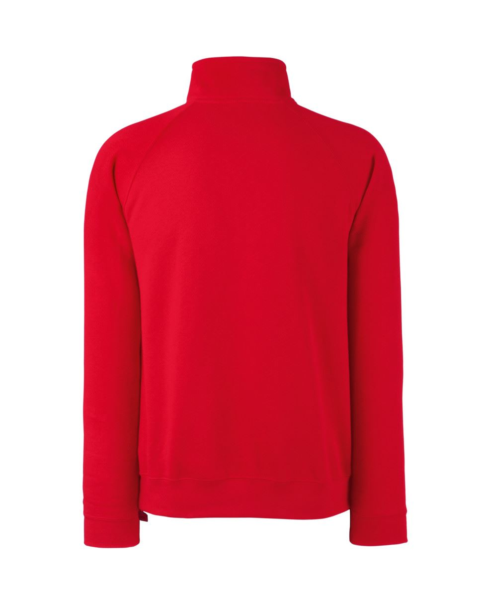 Fruit-Of-The-Loom-Mens-Classic-Zip-Neck-Sweat-Cadet-collar-Sweatshirts miniatura 11