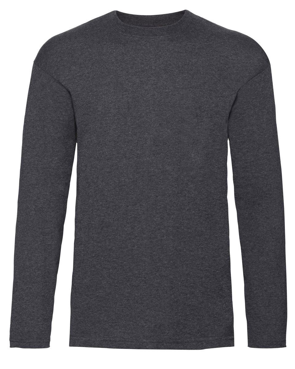 Men-039-s-Fruit-of-the-Loom-Long-Sleeve-T-Shirt-Plain-Tee-Shirt-Top-Cotton-S-5XL thumbnail 5