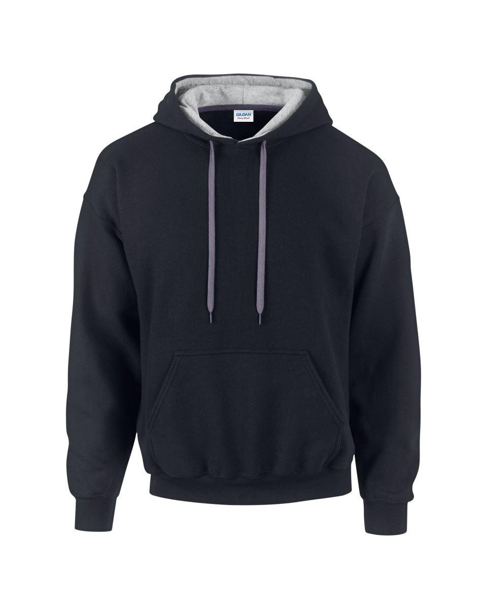 Gildan-Heavy-Blend-Plain-Contrast-Hooded-Sweatshirt-Hoodie-Sweat-Hoody-Jumper thumbnail 8