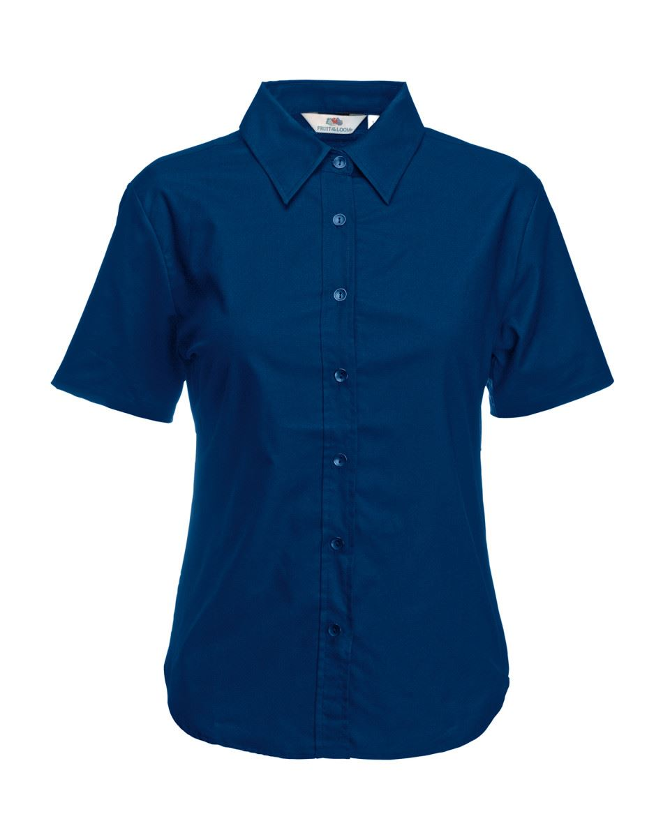 Fruit-of-the-Loom-Femmes-Lady-Fit-Oxford-Boutons-cadat-col-Chemises-amp-Blouses