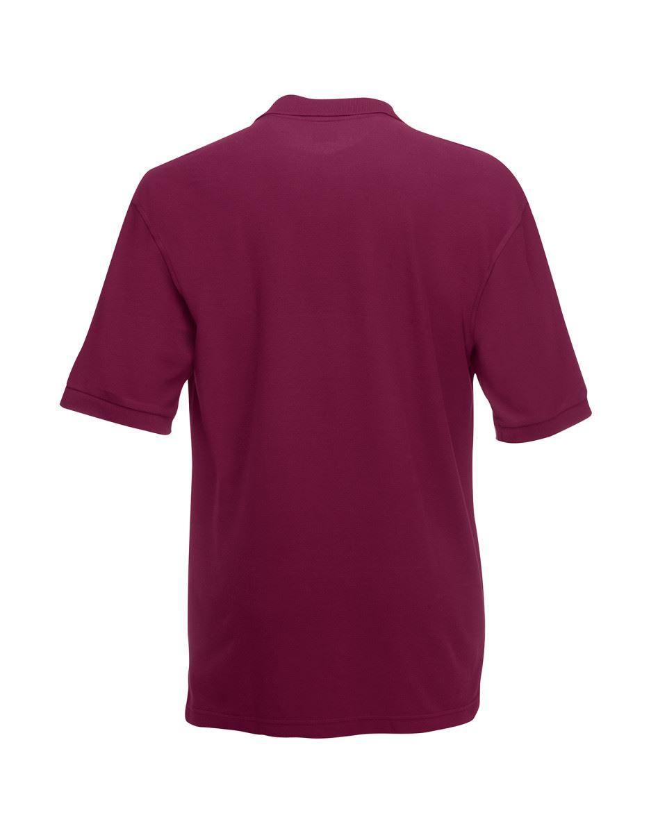 Fruit-of-the-Loom-Plain-Cotton-Mens-Polo-Shirts-T-Shirt-Short-Sleeve-Tshirt thumbnail 7