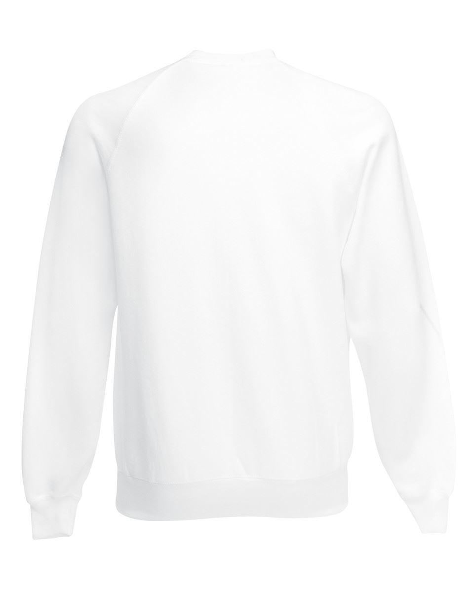Mens-Sweatshirt-Fruit-Of-The-Loom-Raglan-Sweat-Pullover-Plain-Top-Jumper-Sweater thumbnail 5