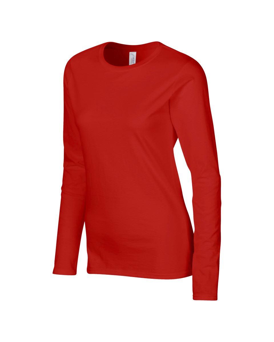 GILDAN-softsyle-Femmes-T-shirt-homme-a-manches-longues-100-Coton-Doux-Decontracte-Femme miniature 37
