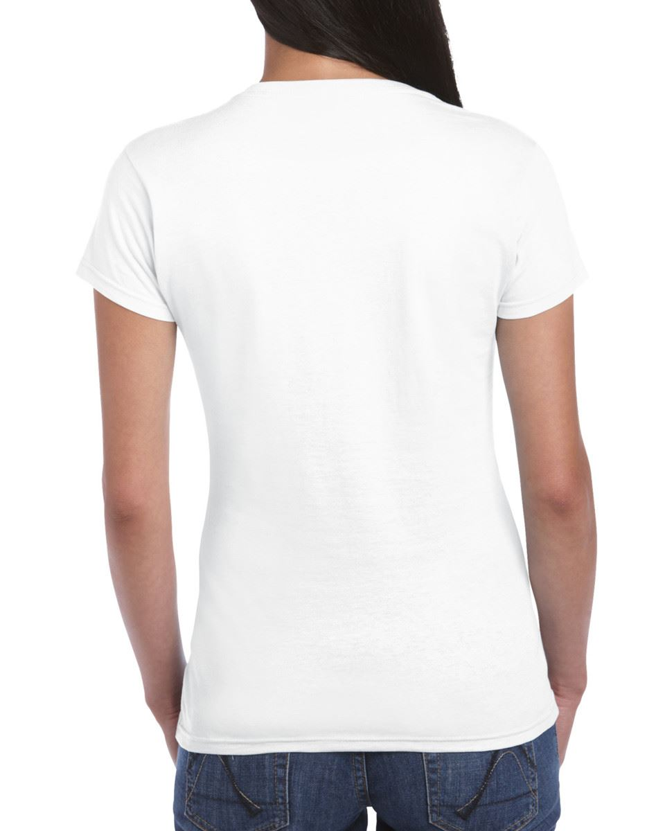Gildan-Womens-Ladies-Soft-Style-Plain-V-Neck-T-Shirt-Cotton-Tee-Tshirt thumbnail 3
