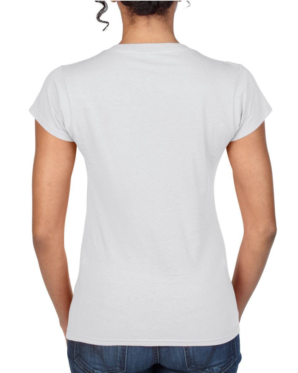 Gildan Plain SoftStyle col V femme T-shirt uni en coton haut femme tee