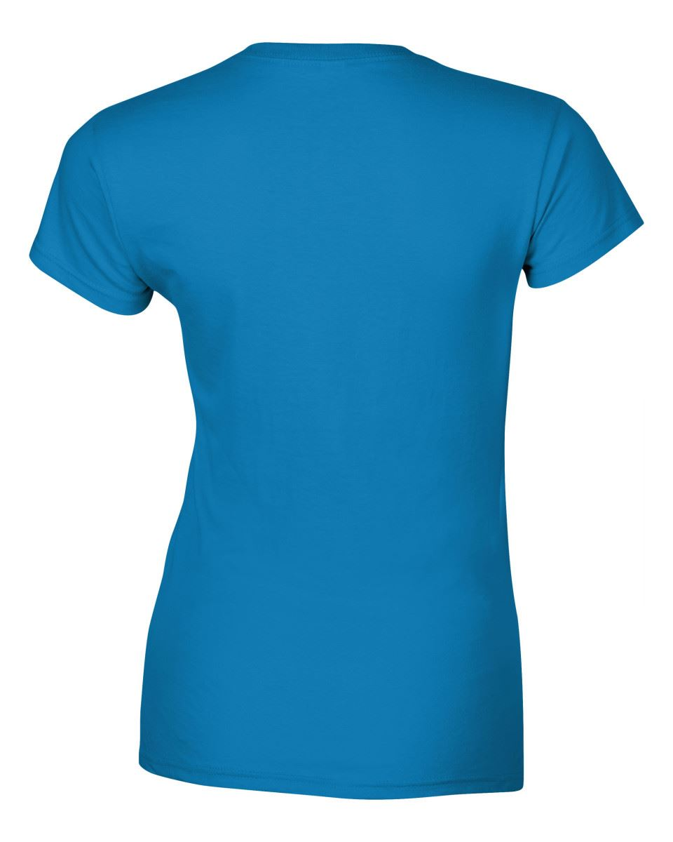 Gildan-Womens-Ladies-Soft-Style-Plain-V-Neck-T-Shirt-Cotton-Tee-Tshirt thumbnail 139