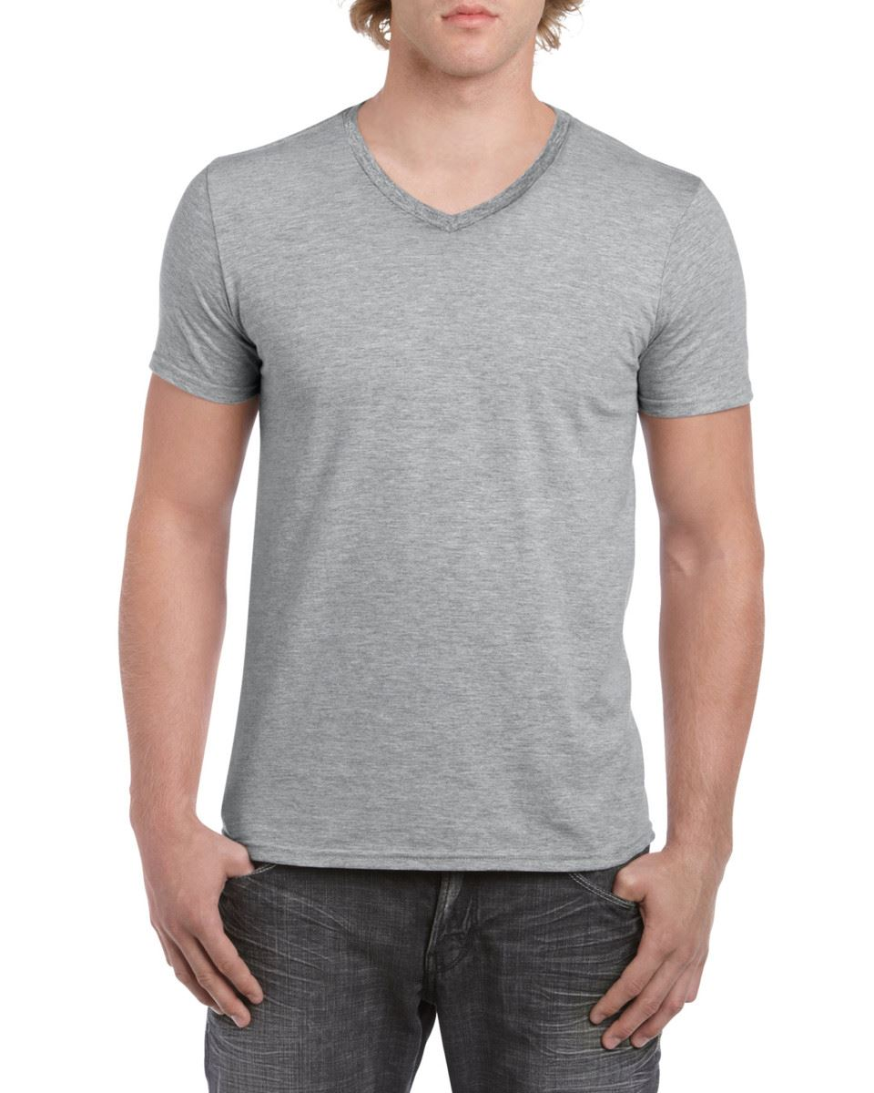 GILDAN-da-uomo-MEN-039-S-SOFT-STYLE-Plain-V-Neck-T-SHIRT-COTTON-TEE-T-shirt miniatura 58
