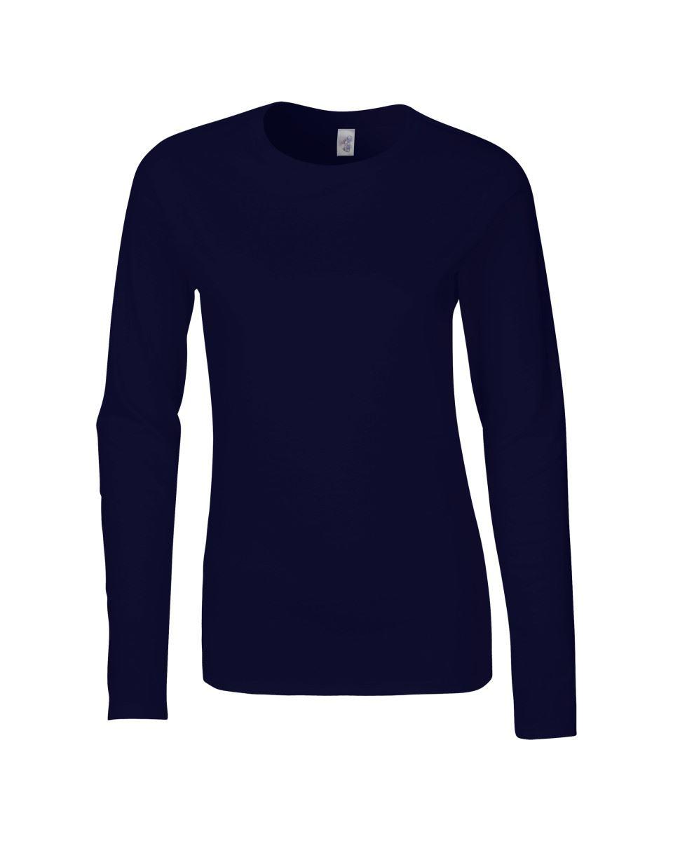 GILDAN-softsyle-Femmes-T-shirt-homme-a-manches-longues-100-Coton-Doux-Decontracte-Femme miniature 30