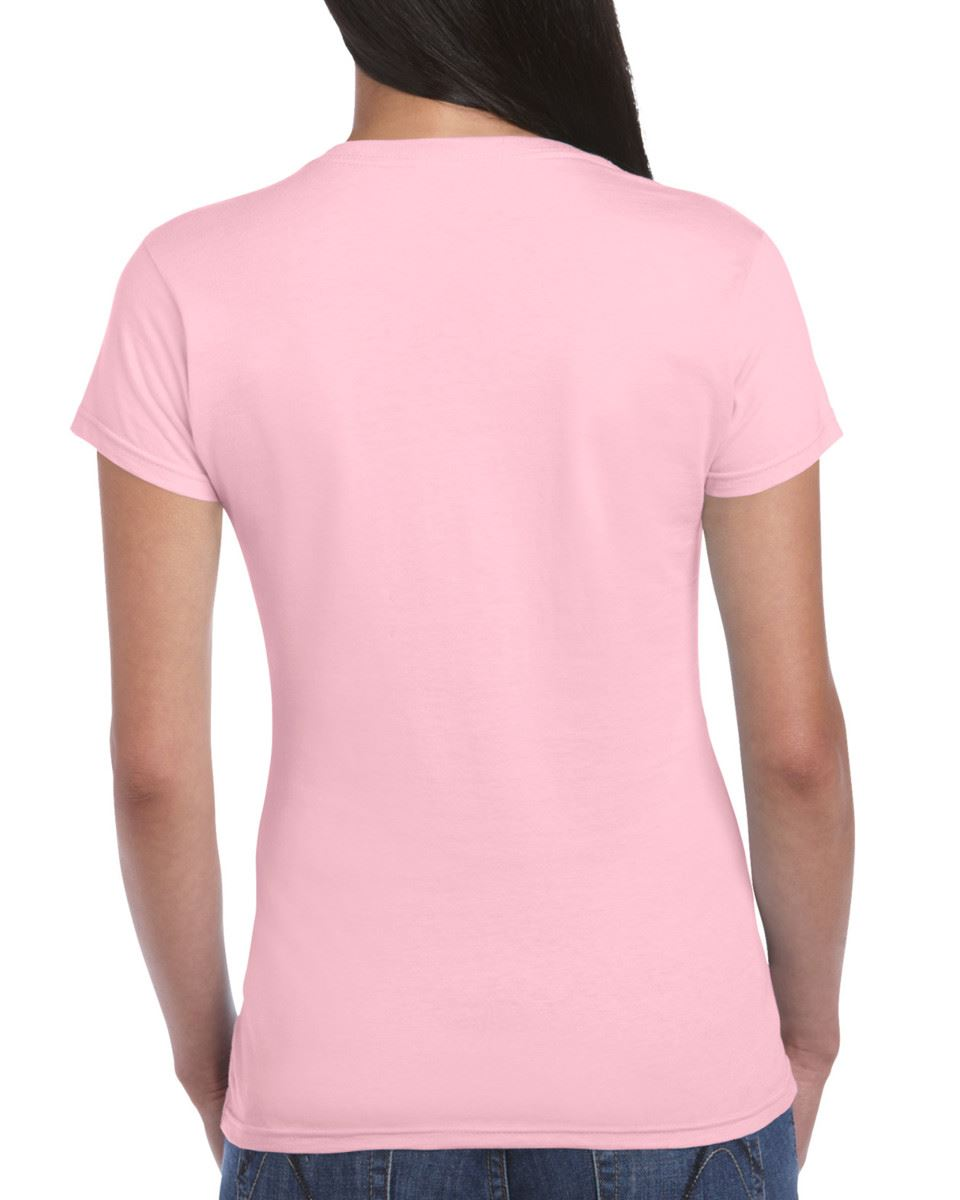 Gildan-Womens-Ladies-Soft-Style-Plain-V-Neck-T-Shirt-Cotton-Tee-Tshirt thumbnail 105