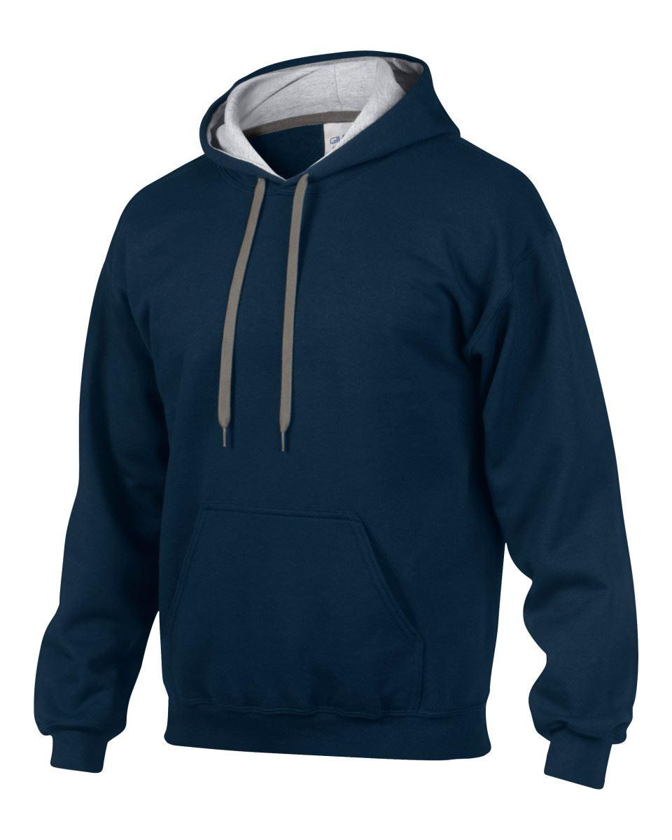 Gildan-Heavy-Blend-Plain-Contrast-Hooded-Sweatshirt-Hoodie-Sweat-Hoody-Jumper thumbnail 20
