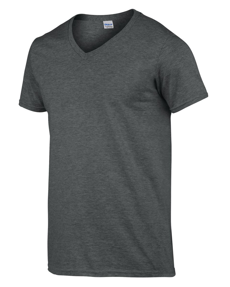 Gildan-Mens-Men-039-s-Soft-Style-Plain-V-Neck-T-Shirt-Cotton-Tee-Tshirt thumbnail 22