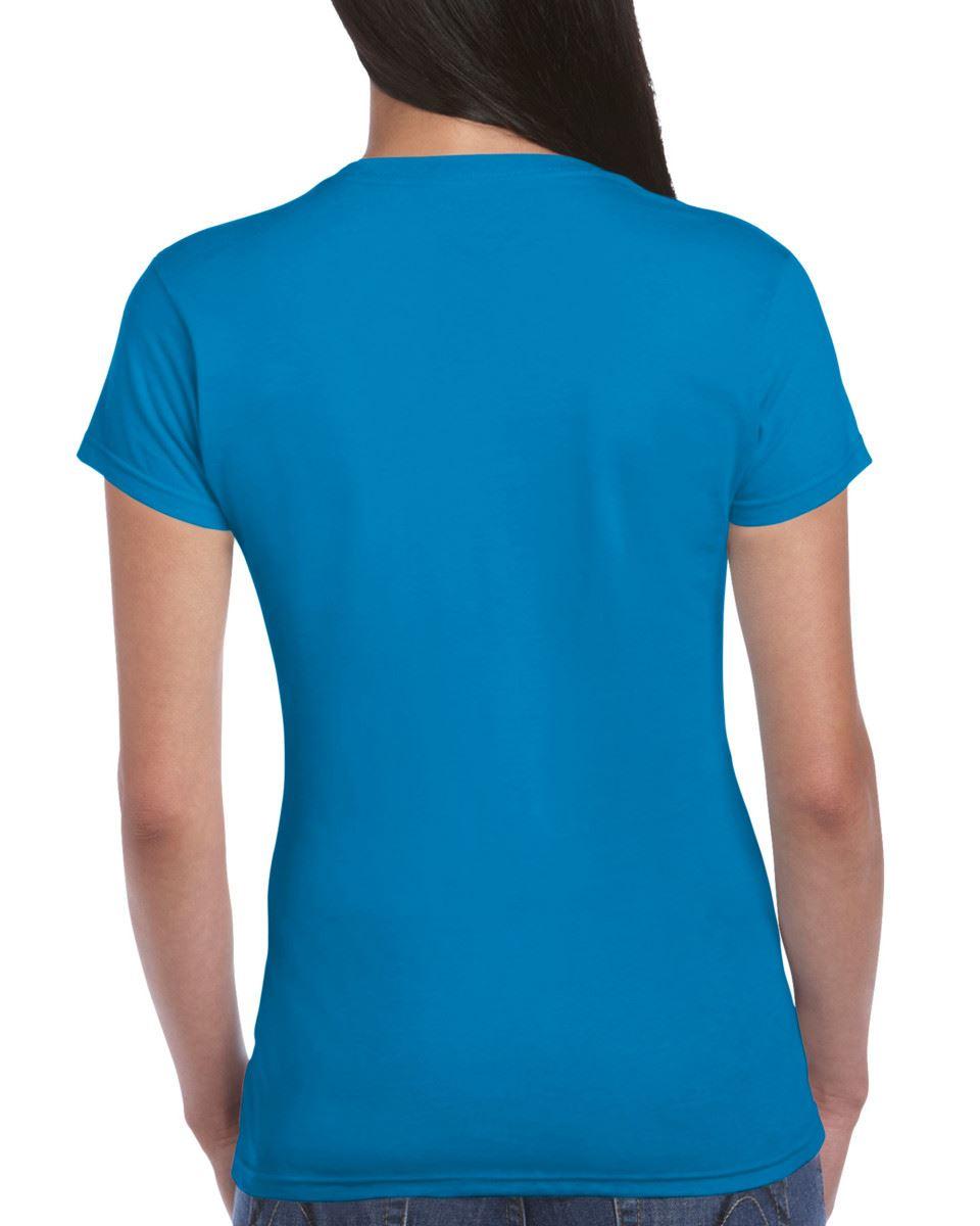 Gildan-Womens-Ladies-Soft-Style-Plain-V-Neck-T-Shirt-Cotton-Tee-Tshirt thumbnail 137