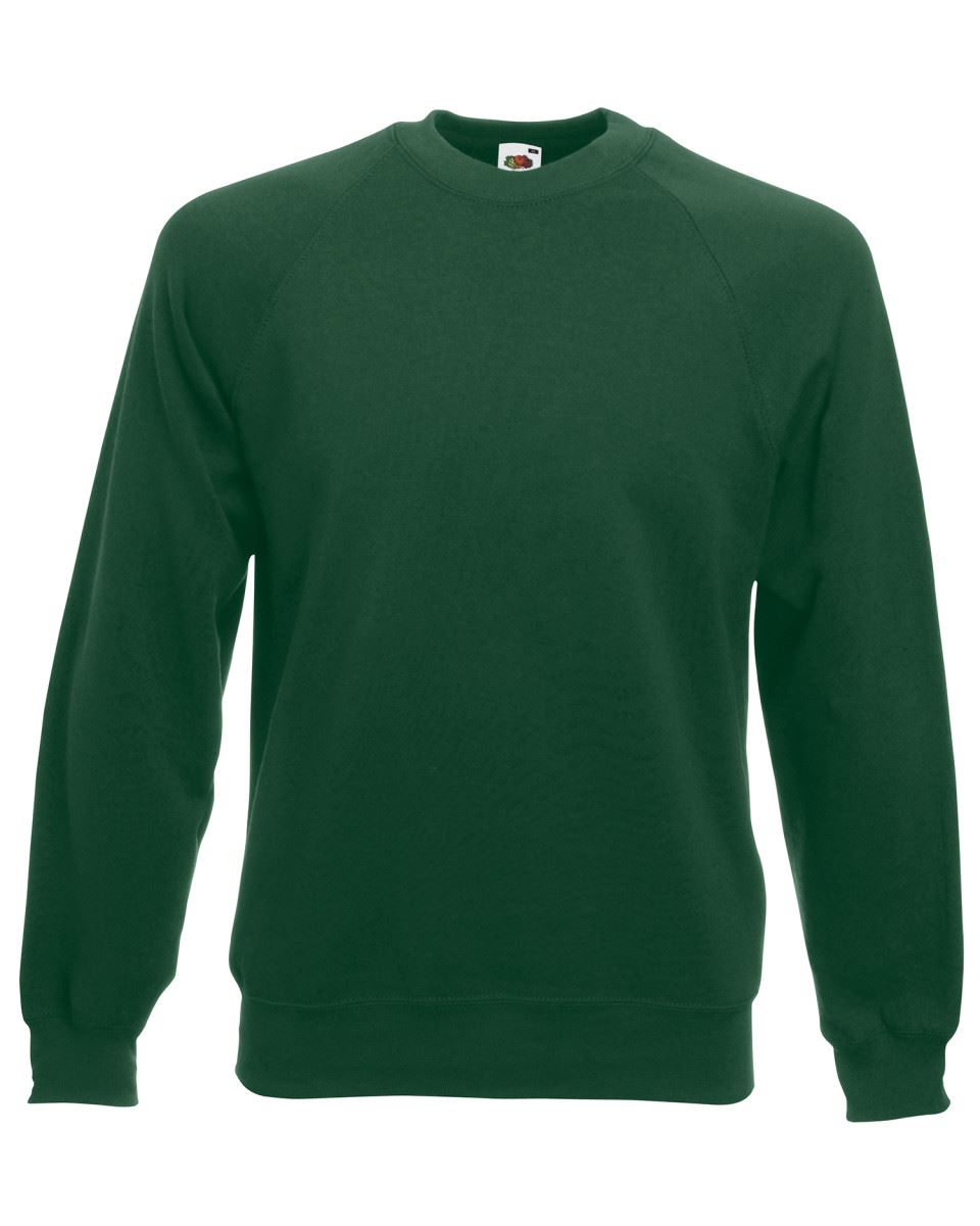 Mens-Sweatshirt-Fruit-Of-The-Loom-Raglan-Sweat-Pullover-Plain-Top-Jumper-Sweater thumbnail 14