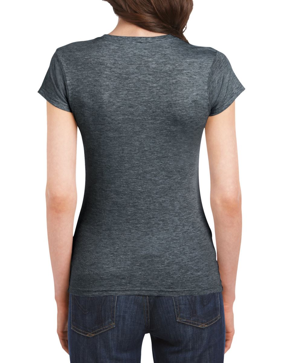 Gildan-Womens-Ladies-Soft-Style-Plain-V-Neck-T-Shirt-Cotton-Tee-Tshirt thumbnail 65