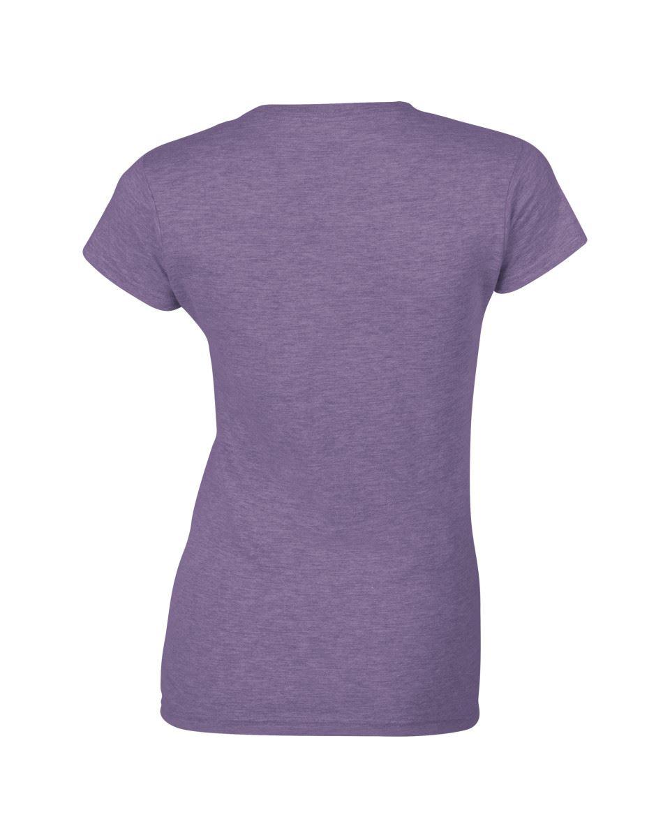 Gildan-Womens-Ladies-Soft-Style-Plain-V-Neck-T-Shirt-Cotton-Tee-Tshirt thumbnail 77