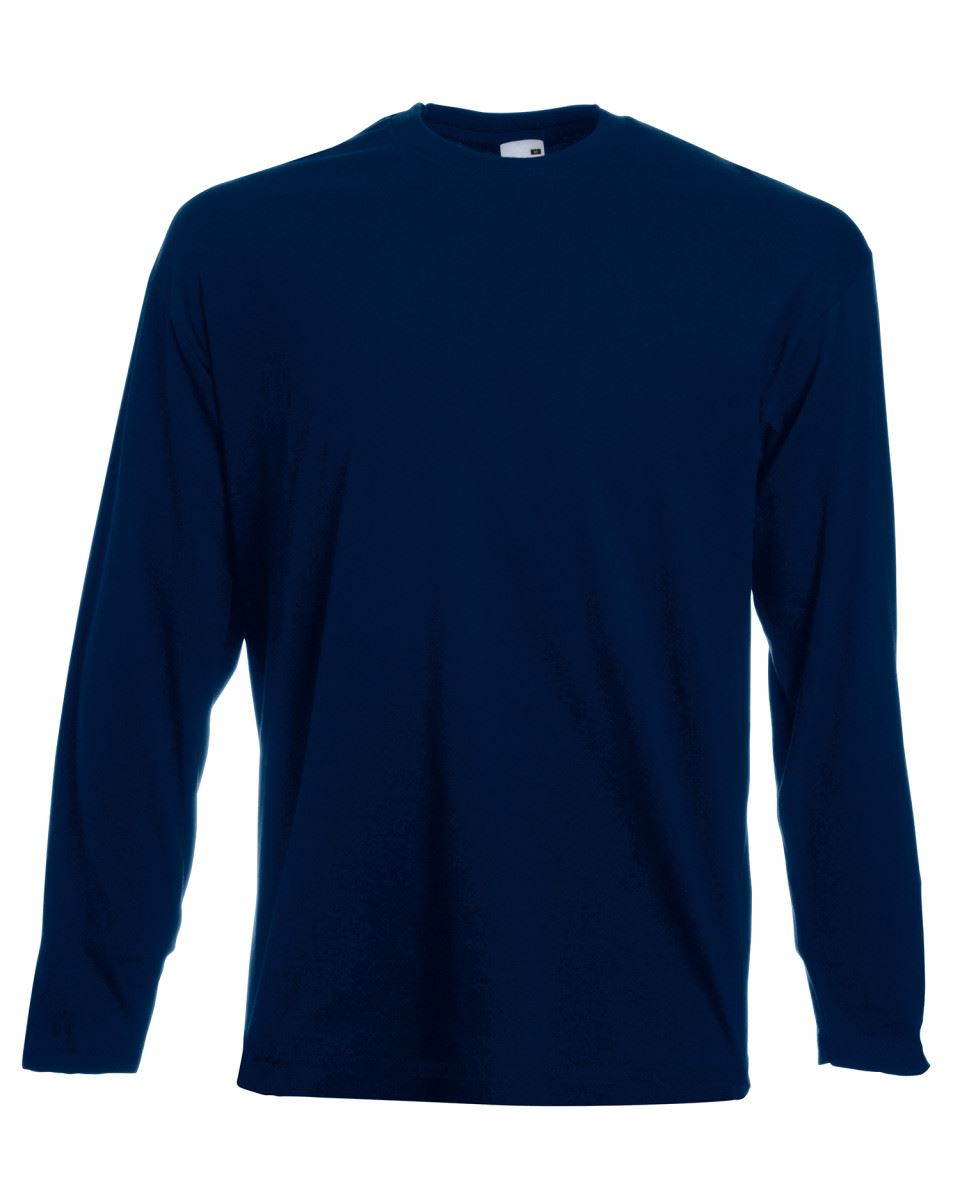 Men-039-s-Fruit-of-the-Loom-Long-Sleeve-T-Shirt-Plain-Tee-Shirt-Top-Cotton-S-5XL thumbnail 7
