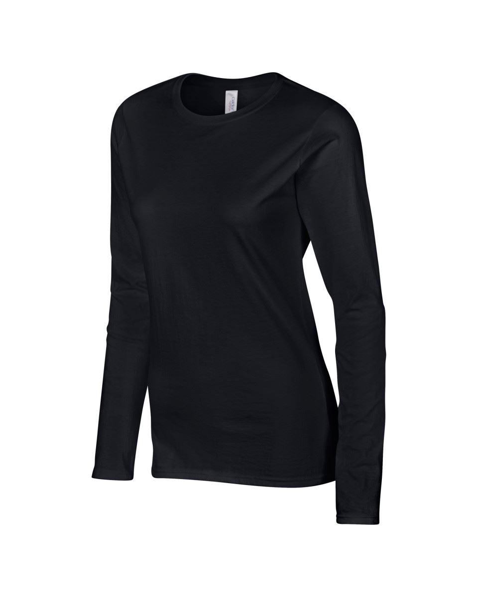 GILDAN-softsyle-Femmes-T-shirt-homme-a-manches-longues-100-Coton-Doux-Decontracte-Femme miniature 12