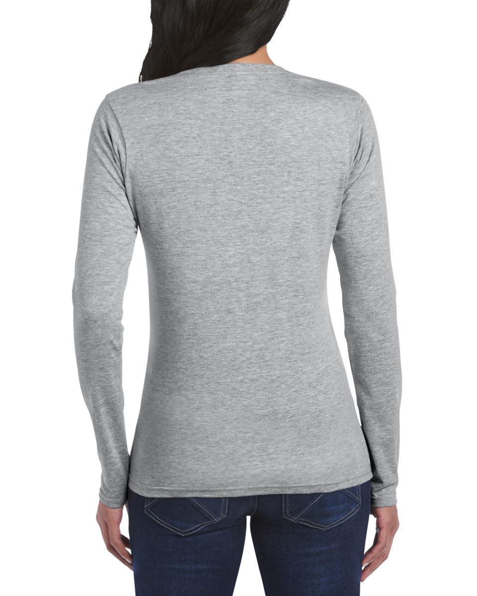 GILDAN-softsyle-Femmes-T-shirt-homme-a-manches-longues-100-Coton-Doux-Decontracte-Femme miniature 39