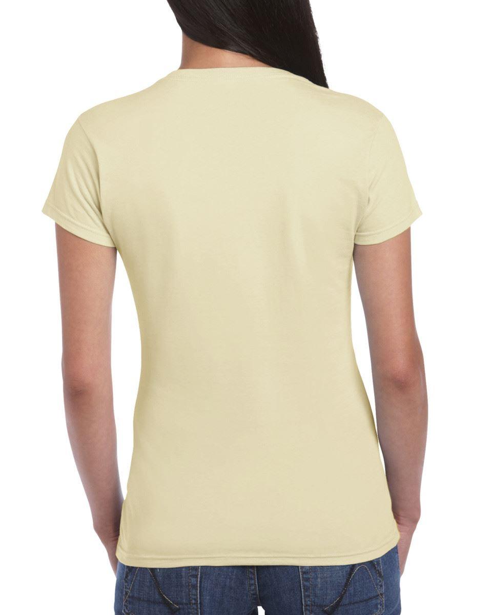Gildan-Womens-Ladies-Soft-Style-Plain-V-Neck-T-Shirt-Cotton-Tee-Tshirt thumbnail 132