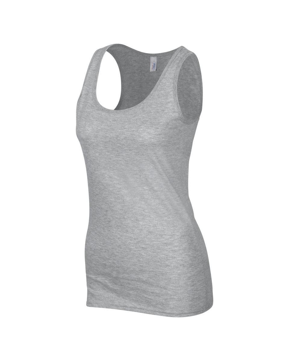 Gildan Ladies Soft Style Plain Tank Top 100/% Cotton Vest S-2XL