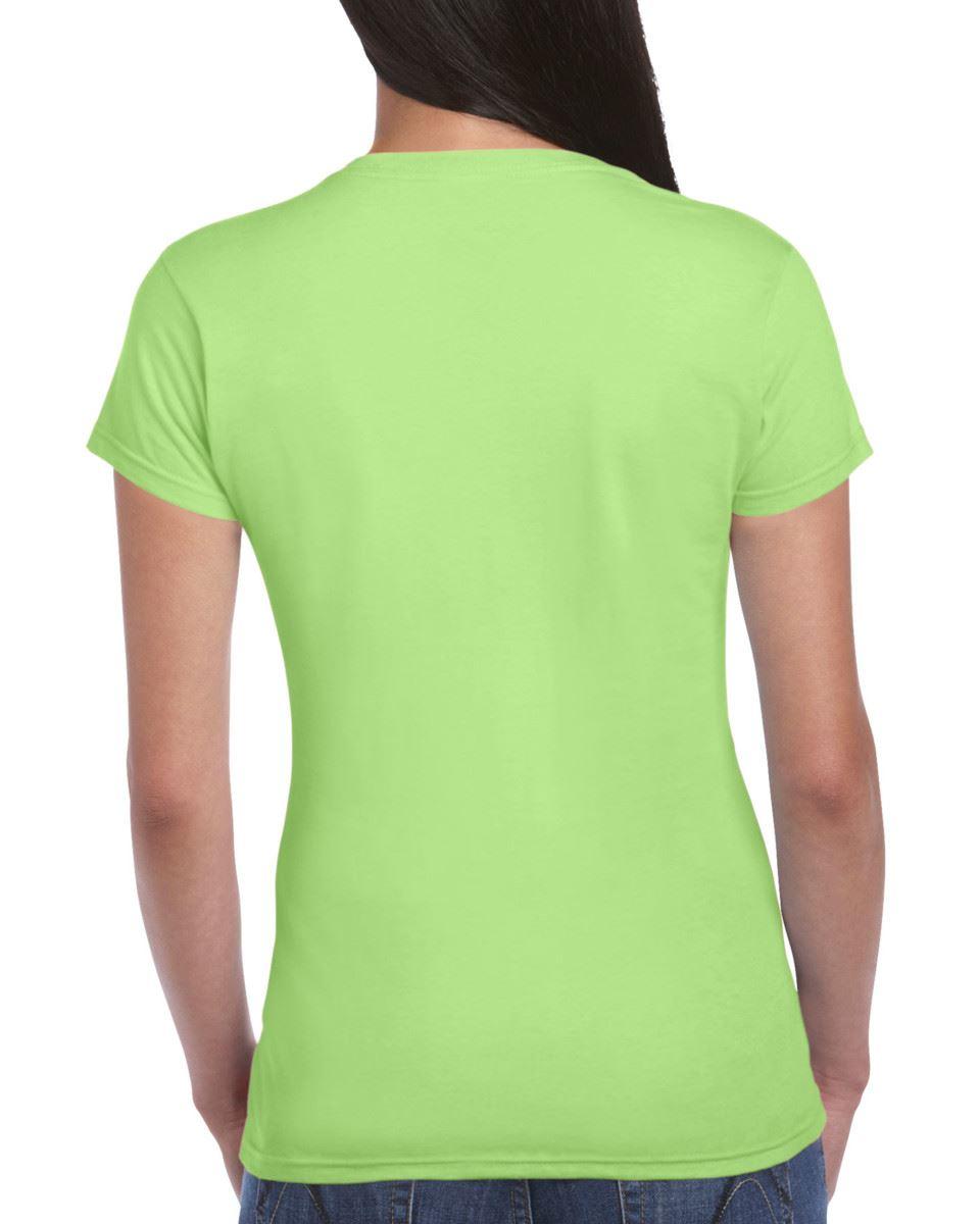 Gildan-Womens-Ladies-Soft-Style-Plain-V-Neck-T-Shirt-Cotton-Tee-Tshirt thumbnail 110