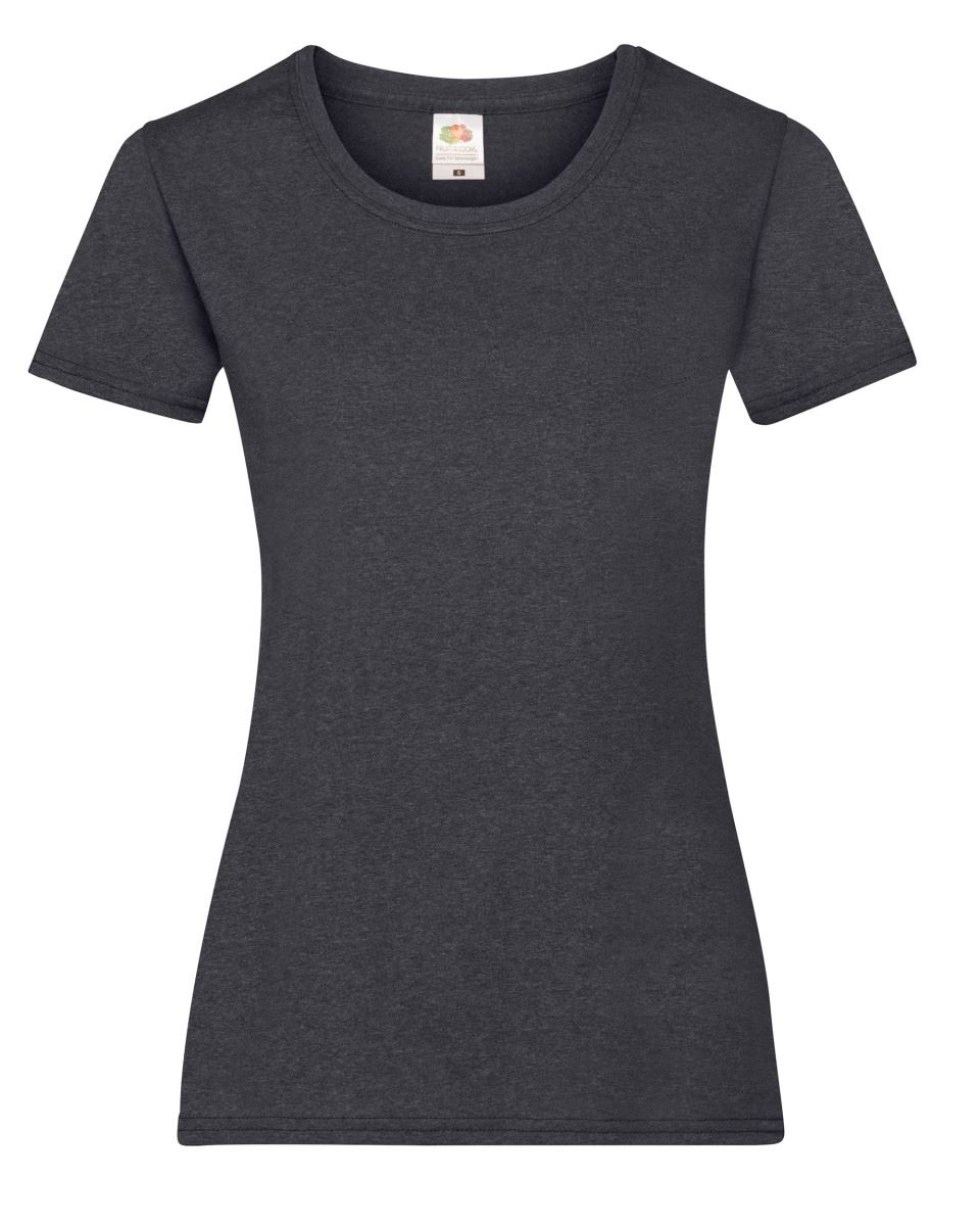 Fruit-of-the-Loom-Womens-Lady-Fit-T-Shirt-Valueweight-Plain-Blank-T-Shirt-Top thumbnail 10