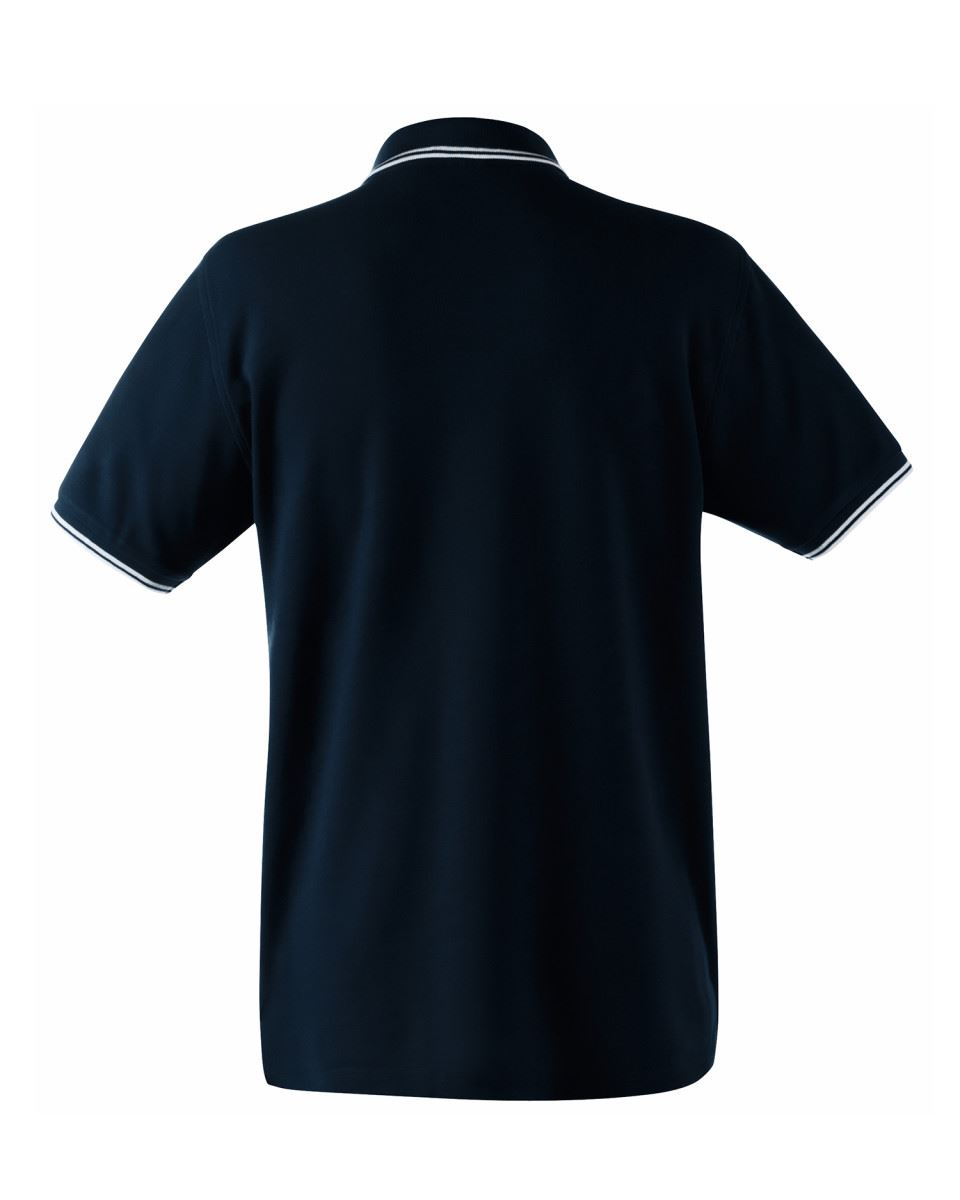 FRUIT-OF-THE-LOOM-Men-039-s-Tipped-Polo-Contrast-Neck-Tape-Cuff-Pure-Cotton-Polo-Top thumbnail 7